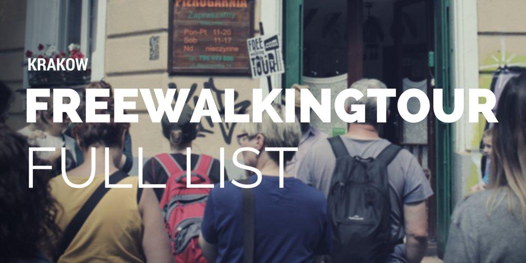 Krakow Free Walking Tour List